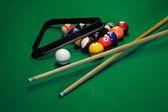 Glossy billiard balls set — Stock Photo