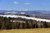 Snow on the top of mountain — Stockfoto