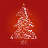 Christmas tree with words — Stock Photo