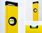 Yellow construction level — Stock Photo