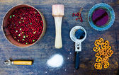 Components of cooking jam. — Stock Photo
