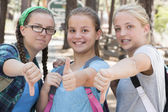 Girls Thumbs — Stock Photo