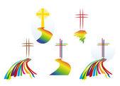 Logos - crosses - worship - Christian Faith — Stock Photo