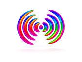 Sound - concentric circles — Stock Photo