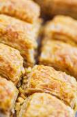 Turkish baklava,also well known in middle east, close up. — Stock Photo