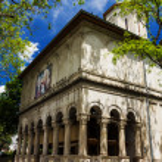 Romanian Orthodox Monastery in Bucharest — Stock Photo #55661617
