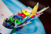 Messy Children's Paint Set — Foto Stock