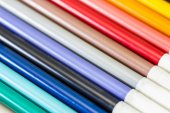 Color pen. Colored Markers background — Stock Photo