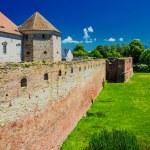 Fagaras fortress and castle - Fagaras, Romania, Transylvania — Stock Photo #64590627