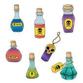 Bottles with poison — Stok Vektör