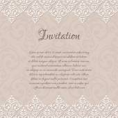 Baroque damask invitation blank — Stock Vector