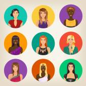 Nine different avatars — Stockvector
