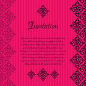 Luxury  invitation card — Stock Vector