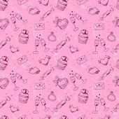 Valentine's day seamless pattern — 图库矢量图片