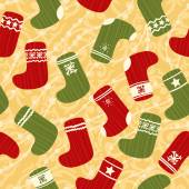 Christmas background with stockings — Stock Vector