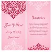 Wedding invitation banners — 图库矢量图片