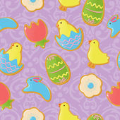 Background with Easter cookies — Stock Vector