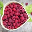 Raspberry in small bowl — Stock Photo #54973347
