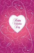 Pink Valentine day card — Stock Vector