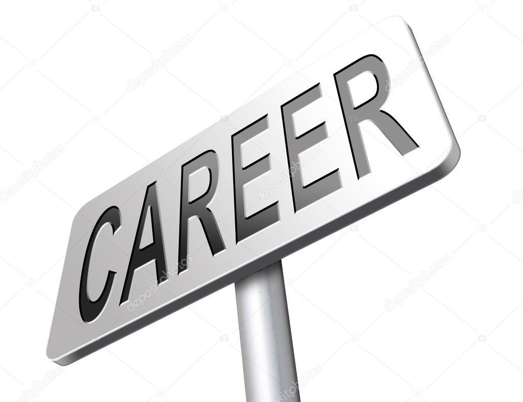 career move and ambition stock photo copy kikkerdirk  career move and ambition for personal development a nice job promotion or the search for a new job build a career road sign or job billboard photo by