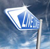 Live long road sign — Stock Photo