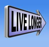 Live longer and stop aging — Stock Photo