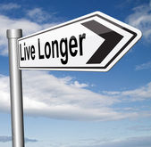 Live longer road sign — Stock Photo
