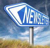 Newsletter latest news — Stock Photo