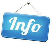 信息标志 — 图库照片