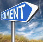Comment sign — Stock Photo