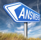 Answers to solve problems — Stock Photo