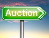 Online auction — Stock Photo