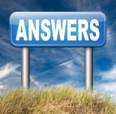 Find answers on your questions — Stock Photo