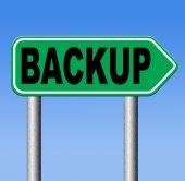 Backup sign — Stockfoto
