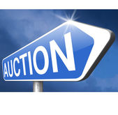 Bid online auction — Stock Photo