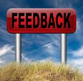 Feedback for service and customer satisfaction — Stockfoto