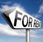 For rent — Stockfoto