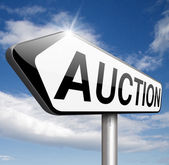 он-лайн аукцион — Стоковое фото
