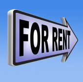 For rent sign — Stockfoto