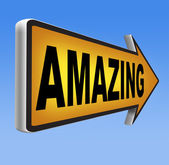 Awesome or wow sign — Stockfoto