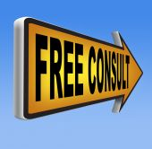Free consult — 图库照片
