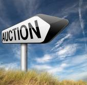 Online auction sign — Stock Photo