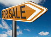 Per segnale stradale in vendita — Foto Stock