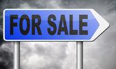 Für Verkauf Zeichen — Stockfoto