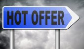 Hot offer sign — Stock Photo