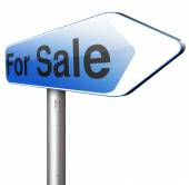 For sale sign — Stock Photo