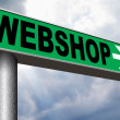 Webshop road sign — Stock Photo #53777639