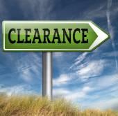 Clearance grand sale stock — Stockfoto