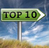 トップ 10 チャート — ストック写真