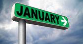 Januar erste Monat des nächsten Jahres — Stockfoto